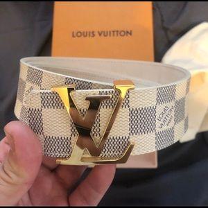 100% Authentic Louis Vuitton Damier Belt